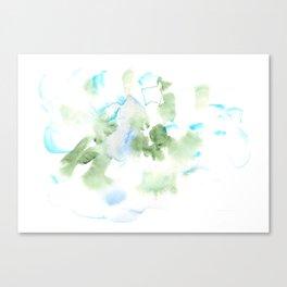 180515 Watercolour Abstract  Wp 17| Watercolor Brush Strokes Canvas Print