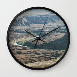 Green river in Canyonlands Wall Clock