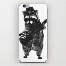 Raccoon wielding ukulele iPhone Skin