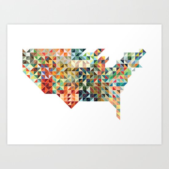Geometric United States Art Print