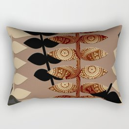 Patterned Vines Rectangular Pillow