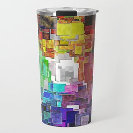 Spectral Geometric Abstract Travel Mug