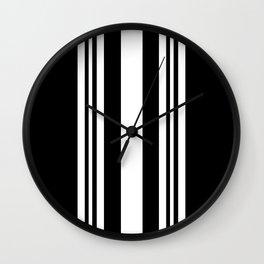 Black and white modern stripe pattern 04 Wall Clock