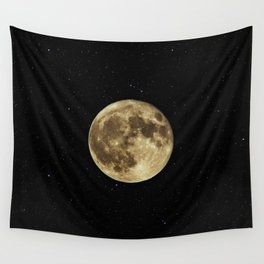 MOON - SKY - STARS - GALAXY - SPACE - PHOTOGRAPHY Wall Tapestry
