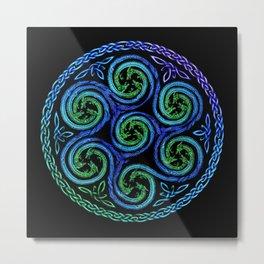 Dragon Seven Spirals Mandala Metal Print