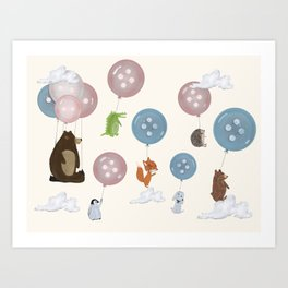 button ballooning Art Print
