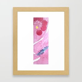 feather and pink Framed Art Print