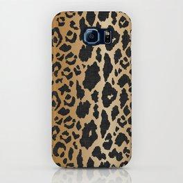 Leopard Print Linen iPhone Case