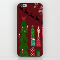 xmas iPhone & iPod Skins featuring Xmas by JuniqueStudio