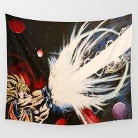 dbz Wall Tapestries featuring DBZ Galaxy by DrewzDesignz