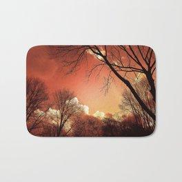 Sunset Through The Trees Bath Mat