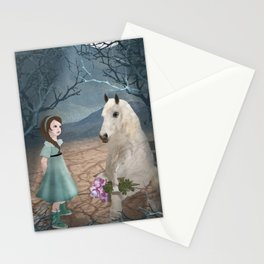 Talking with horseguy Stationery Cards