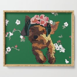 Frida-Terrier dog Serving Tray