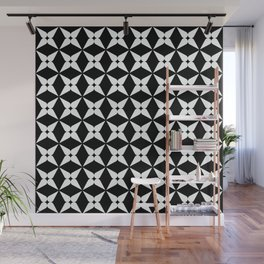 Geometric Pattern 247 (white crosses) Wall Mural