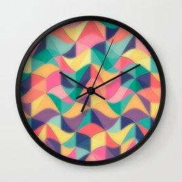 Wave Patty by Nico Bielow Wall Clock