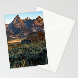 Wyoming - Moulton Barn and Grand Tetons Stationery Cards