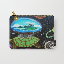 Cosmic Turtle Journey Through Space Carry-All Pouch