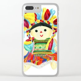 Mexican doll Clear iPhone Case