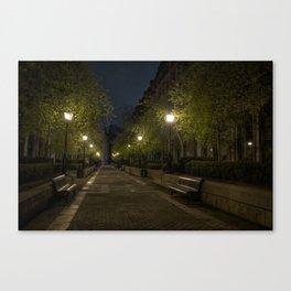 park nocturne Canvas Print