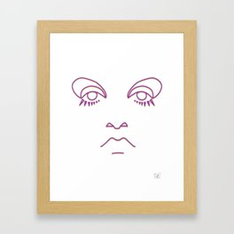 Twiggy in purple and gold Framed Art Print
