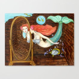 Mermaid's Discovery Canvas Print