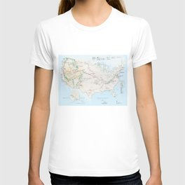 National Parks Trail Map T-shirt