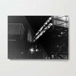 Night Construction Metal Print