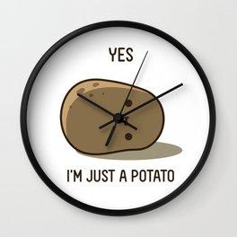 Cute Potato Wall Clock