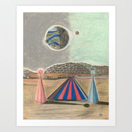 A Crash of Rhinos mural, The Domed Cities (5 OF 6) Art Print