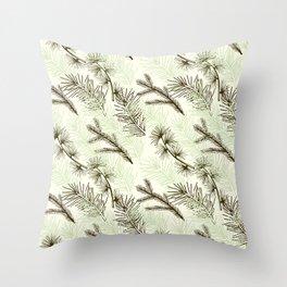 Christmas tree pattern. Throw Pillow