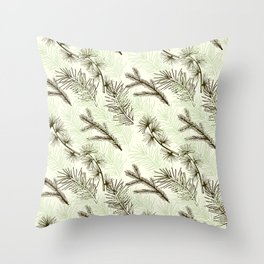 Christmas tree pattern. Throw Pillow
