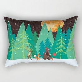 Take a walk under the moon Rectangular Pillow