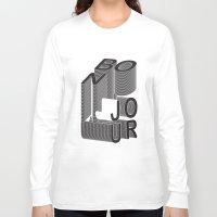 bonjour Long Sleeve T-shirts featuring Bonjour by Salomé Milet
