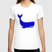 the whale T-shirts featuring Whale by Good Sense