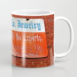Old Jewelry Store Sign Coffee Mug