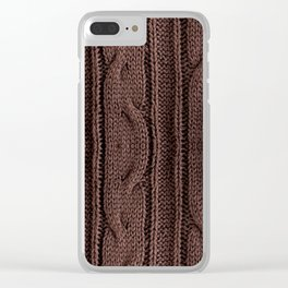 Brown braid jersey cloth texture abstract Clear iPhone Case