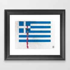The Grexit scenario Framed Art Print