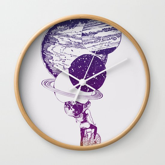 Time for Ride Wall Clock