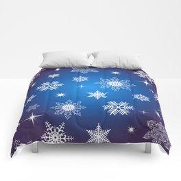 Seamless snowflake background Comforters