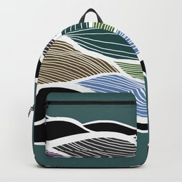 Waving Harmonic Color Fields on Turquise Backpack