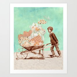 Cloud Carrier Art Print
