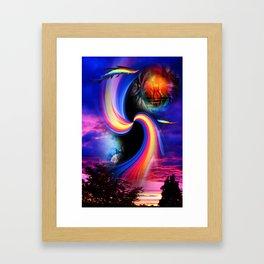 Heavenly apparition 2 Framed Art Print