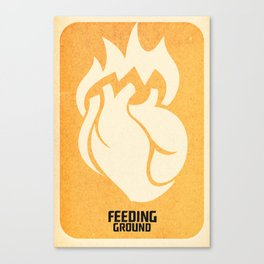 FEEDING GROUND Sacred Heart Canvas Print
