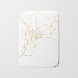 BAKU AZERBAIJAN CITY STREET MAP ART Bath Mat