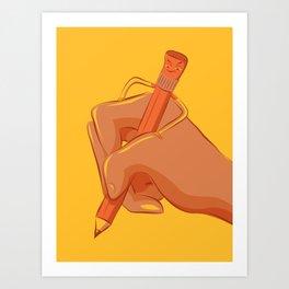 Feisty Pencil Art Print