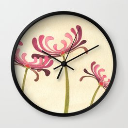Mauve Chrysanthemums Wall Clock