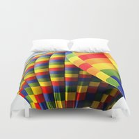 balloons Duvet Covers featuring Balloons  by Rob Hawkins Photography