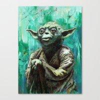 yoda Canvas Prints featuring YODA by Tom Deacon