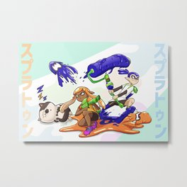 You're a Squid Now! Metal Print
