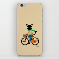 cycling iPhone & iPod Skins featuring Whim's cycling by BATKEI